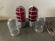EXPLOSION PROOF CAGE LIGHT RED GLASS & CLEAR GLASS COOPER LIGHTING LOT