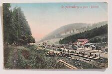 29556 AK Bahnhof St. Andreasberg im Harz mit Eisenbahn Zug Lok 1912 coloriert