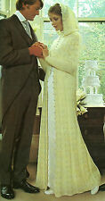 "Wedding Gown Knitting Pattern 4ply 34-36"" Retro 277"