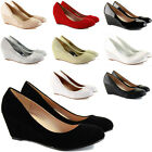 WOMENS LOW MID HIGH HEELS PLATFORMS WEDGES WORK LADIES PUMPS COURT SHOES SIZE
