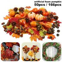 166X Artificial Pumpkin Maple Leaf Wreath Garland Halloween christmas Home Decor