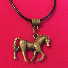 Vintage Bronce PLT Caballo Colgante Collar Regalo para Damas Niñas para Hombre amantes de los caballos
