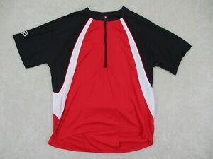 Fox Racing Men's Size XL Black Red Biking Cycling Shirt Short Sleeve Jersey