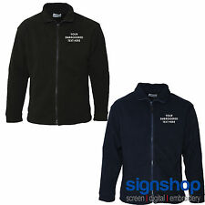 Custom Embroidered Fleece Personalised with your Text - AA64