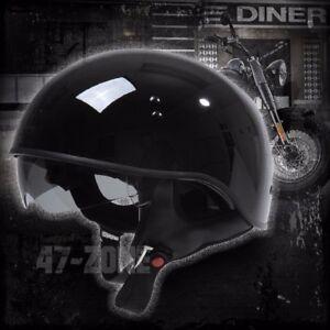 Torc Spec-Op T55 Gloss Black Half Shell Motorcycle Scooter Bike Helmet