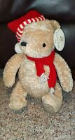 "Disney Classic Winnie the Pooh Stuffed Plush Toy Baby's First Christmas 16"" NWT"