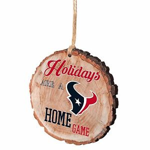Houston Texans Christmas Tree Ornament Stump New - Holidays are a Home Game