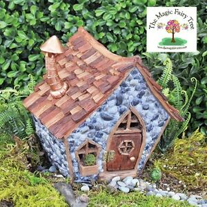 Fiddlehead Shingletown Crooked Little Fairy House with opening door Gnome Home