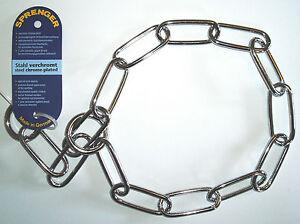 Sprenger Fur Saver Dog Check Collar - Long Link Chrome Plated Choker Chain