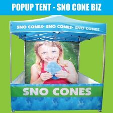 SNO CONE TENT POPUP Marquee Gazebo 2Mx2M - All machines Fairy Floss Snow Cones