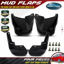 fits HONDA CIVIC 1996 - 2000 Coupe Sedan 4PCS Front Rear Splash Guards Mud Flaps