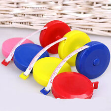 Best 1pc Mini Cute Pocket Plastic Round Tape Measure Ruler Sewing Tapeline 150cm