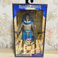 "NECA Iron Maiden Powerslave Pharaoh 8"" inch Clothed Action Figure"