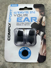 NEW Comply Foam S400 Sport In-Ear Earphone Tips 2 Pairs Medium Black