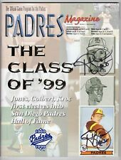 Randy Jones, Sd Padres Cy Young Pitcher, Autographed Program & Baseball Card