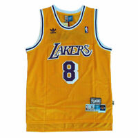 Kobe Bryant #8 Los Angeles Lakers Jersey Gold Throwback Mens Stitched Basketball