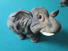 Andrea By Sadek baby elephant, glass eyes, super cute, very detailed [A]