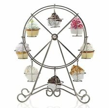 8-Cup Stainless Rotating Ferris Wheel Cupcake Party Stand Muffin Holder Wedding
