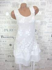 Sommerkleid Hängerchen Tunika Kleid SPITZE HÄKEL Lagenlook 36 38 40 42 Weiß E372