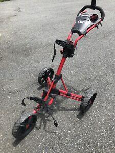 clicgear golf push cart Red
