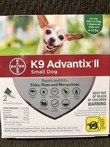 Bayer K9 Advantix II for Small Dogs 4-10 lbs - 2 Doses