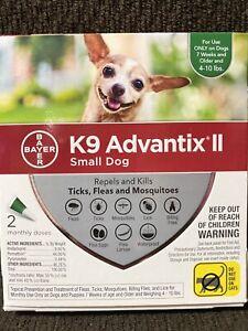 Bayer K9 Advantix II for Small Dog 4-10 lbs - 2 Doses