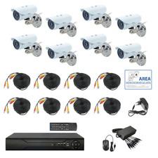 KIT Videosorveglianza AHD IP CLOUD DVR 8 Canali 8 Telecamere HD IR 2 MPX