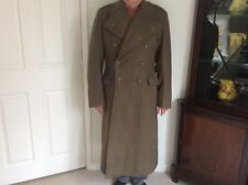 British Army Officer's Trench/Great Coat - Khaki/Wool - 1955 - Excellent Unworn!