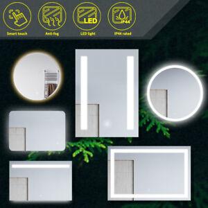 Round/Square Bathroom LED Mirror Wall Mounted  Mirror  Illuminated Anti-fogging