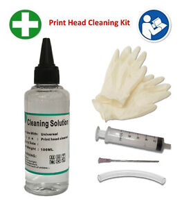 Unblock Print Head Nozzles fits Epson Printer Cleaning Kit Cleaner Flush