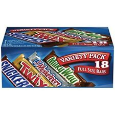 MARS Chocolate Singles Size Candy Bars Variety Pack 33.31-Ounce 18-Count Box