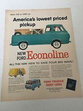1960 's  Ford Motor Company Econoline Pick-Up Magazine Advertisement