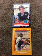 Lot of 2 San Francisco Giants Kirt Manwaring Autographed Baseball Cards