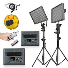 2* Aputure HR672C CRI 95+ LED Video Light Color Dimmable W/Free Battery+2*Stand