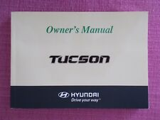 HYUNDAI TUCSON (2004 - 2009) OWNERS MANUAL - OWNERS GUIDE - HANDBOOK  (HY 33)
