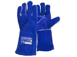 Welding Gloves Heat Resistant 14'' BBQ/Oven/MIG/TIG Welder Welder Gauntlets Blue