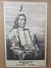 Blk & White Indian Poster Makhpfya-Luta Red Cloud Oglala 1822-1909 in#G1930