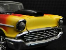 1 1957 57 Chevy Hot Rod Drag Race Car Dragster Sport Carousel Blk Metal Model 18