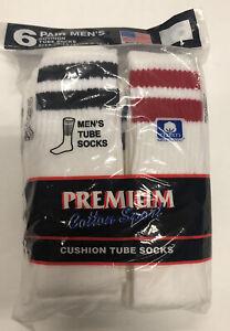 Party Tube Socks Mens Vintage 6 Pack White