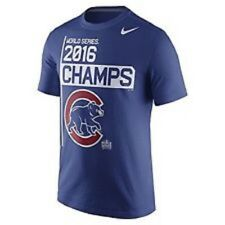 NIKE 2016 CHICAGO CUBS WORLD SERIES CHAMPS MEN'S SHORT SLEEVE T-SHIRT MLB NEW!