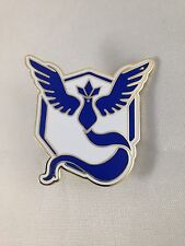 Pokemon Team Mystic Metal Pin GO Blue And White
