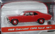 red 1968 chevy nova copo ss '68 1/64 scale diecast model car new greenlight