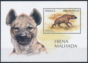 Angola 1996 MNH MS, Wild animals, Hyena