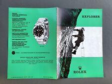 Rare Rolex Catalogue brochure Explorer I 1016 vintage folleto catálogo