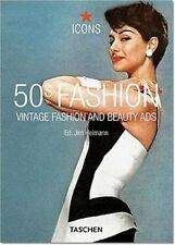 50s Fashion: Vintage Fashion and Beauty Ads (Icons Series)  NEW  *SHIPS FREE