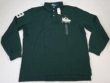 NWT Ralph Lauren Polo Long Sleeve Green Rugby Horseman #3 Shirt Mens Size XXL
