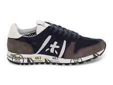 Sneakers Premiata 2118 in camoscio blu grigio - Scarpe Uomo