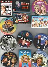 2016 pin CLINTON pinback HILLARY Campaign button COLLECTION of 12