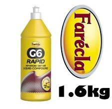 Farecla G6 Rapid Líquido REFORZADO Compuesto 1l 1.6kg Botella Avanzado Seco