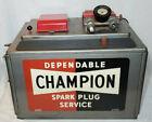 VINTAGE CHAMPION SPARK PLUG SERVICE STATION MACHINE BLASTER CLEANER TESTER